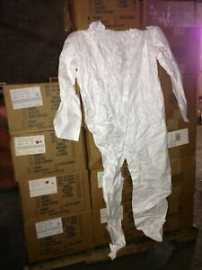3pcs Tyvek Protective Coverall Suit 01420 2x Safety Snap Front Hood Boot