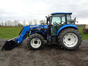 2016 New Holland T4 110 Tractor Cab heat air 4wd Nh 655tl Loader 145 Hours