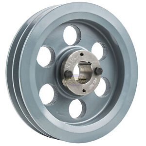 Cast Iron 7 75 2 Groove Dual Belt B Section 5l Pulley 1 1 4 Sheave Bushing