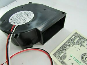 New Nmb 24vdc Squirrel Cage Blower Fans 3 pin 28 Cfm 95mm X 33mm 09533ga 24m at
