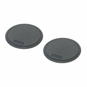 Carmate Drink Holder Dz237 Black Carbon Coaster Round 2 Pieces F s W tracking