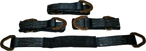 4pk 36 Black Axle Strap Hot Rod Muscle Car Hauler Trailr Tie Dwn Wheel Strap Hd