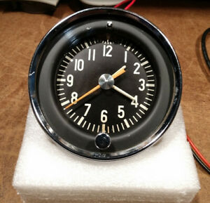 Studebaker Hawk Dash Clock Vintage 1957 Geo W Borg Refurbed And Operational