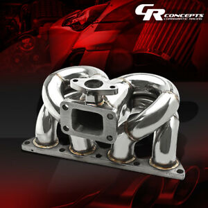 For Honda Acura B Series B16a1 B18 T3 Ram Horn Racing Turbo Charger Manifold Kit