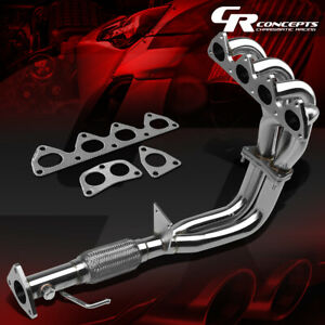 For 97 01 Honda Prelude Base Bb6 H22 Stainless Flex Exhaust Pipe Manifold Header