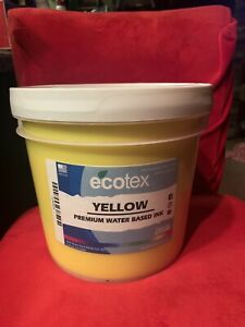 Ecotex Yellow Premium Water Based Ink For Screen Printing 1 Gallon 128oz