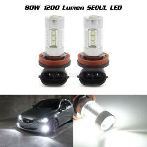 80w Seoul White 1200 Lumen H8 H9 H11 Led Daytime Running Light Fog Driving Lamp