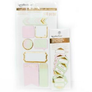 Recollections Creative Year Set New Tabs Pink Green Gold Planner Accessories