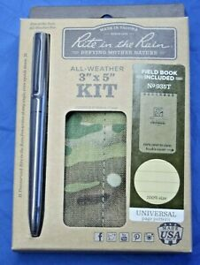 Rite In The Rain All Weather 3 x5 Multicam Kit 935 T Pen Cover Notebook
