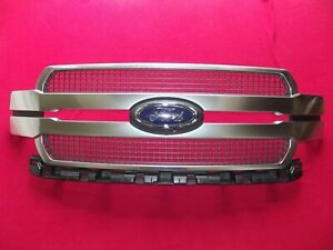 2018 2020 Ford F 150 F150 Oem Satin Grille Grill Emblem W Camera Option Factory