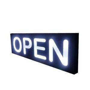 Open Sign custom Open Signs led Light Box Sign 12x48x1 75 Inch