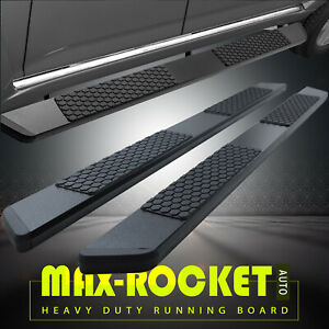 For 99 16 Ford F250 Superduty Crew Cab 5 5 Side Step Running Board Nerf Bar Blk