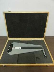 Spi 13 820 6 Deep Throat Micrometer 0 1 0 0001 W Wooden Case