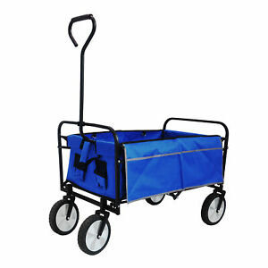 Collapsible Folding Carts With Wheels For Groceries Garden 150 Lbs Capacity