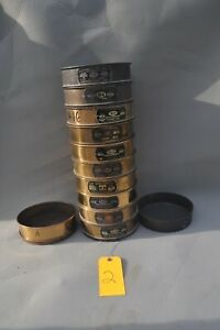 Lot Of 12 Soiltest Brass 8 U S A Standard Testing Sieve 4 To 200