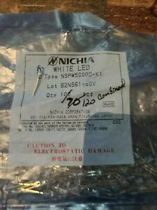 New Nichia White Led Nspw500gs k1 Lot Of 120