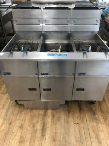 Reconditioned used Pitco Sg14rs 3fd Multiple Battery Fryer W Filtration