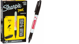 Sharpie 13601 Industrial Fine Point Permanent Marker Black 12 Count