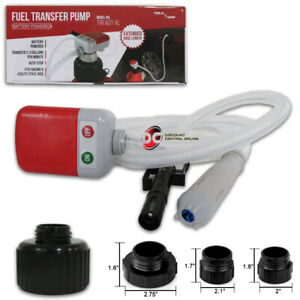 New Battery Powered Tera Pump Trfa01 xl Fuel Transfer Pump Extended Hose Length