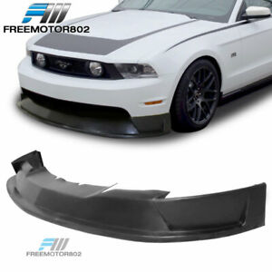 Fits 10 12 Ford Mustang Gt St Style Front Bumper Lip Spoiler Bodykit