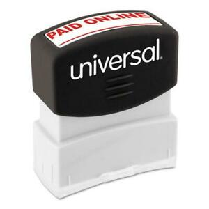 Message Stamp Paid Online Red