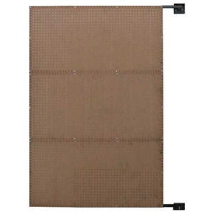 Pegboard Swing Panel 6yb77 Hardwood Brown 72 X 48 Load Capacity 575 Lb
