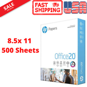 Hp Printer Paper Office 20 8 5 X 11 Copy Print Letter Size 1 Ream 500 Sheets Usa