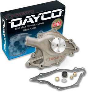 Dayco Water Pump For Plymouth Savoy 1958 1964 4 5l 5 2l V8 Engine Tune Up At