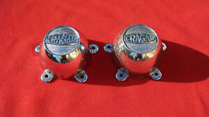 1960 s Vintage Cragar metal Wheel Center Caps 5 Ear Mounting Rat Rod Gasser Et