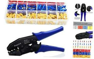 Wire Terminals Crimping Tool Kit Preciva Awg22 10 Insulated Ratcheting