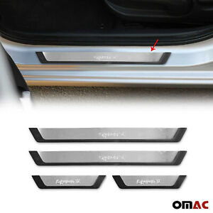 For Jeep Wrangler Door Sill Cover Protector Guard Flexible Stainless Steel Trim