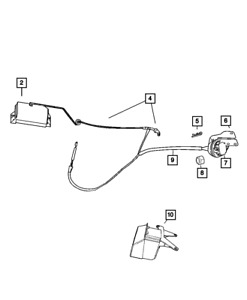 Genuine Mopar Pedal Travel Sensor 53031575ah