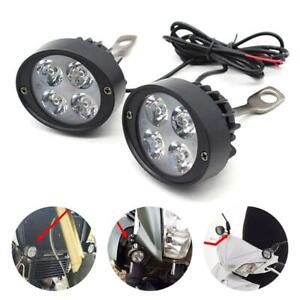 High Quality Motorcycle Headlight Spot Fog Lights Head Lamp 4 Led Front 12v
