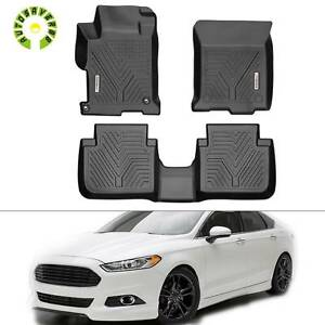 All Weather Floor Mats Liners For For 2013 2017 Honda Accord Sedan 4 Door Black