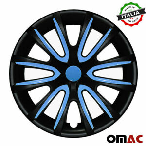 15 Inch Wheel Rim Cover Hubcap Matte Black Blue For Nissan Sentra 4pcs Set