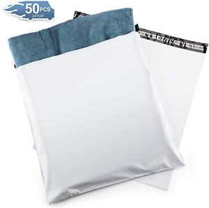 Metronic 50pc Large Shipping Bags White Poly Mailers 24x24 Envelopes With Self A