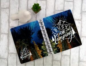 Busy Camping Disc Bound Planner Cover Mountain Trees Rv Tent Hike Trailer Camp