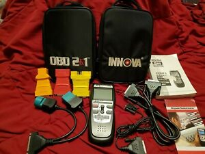 Innova Equus 3140 Obd2 Obd1 Scanner Tool Kit Can Obd1 Obd2 Cables Owners Manu