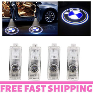 4 Pcs Led Car Logo Bmw Lights Door Projector Emblem Lamp Shadow Easy Install