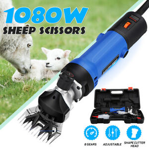 1080w Adjustable Electric Shearing Clipper Sheep Goat Grooming Shears Farm Tool