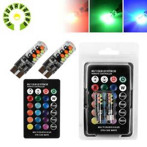T10 Cob Rgb Led Bulb Remote Control Dome License Plate Trunk Reading Light W5w