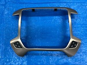 2014 2018 Gmc Sierra Denali Radio Trim Panel Bezel Aluminum With Seat Switch