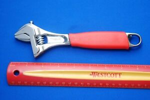 New Snap On 8 Flank Drive Plus Red Soft Grip Adjustable Wrench Fadh8b