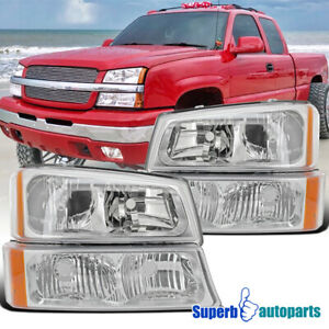 For 2003 2006 Chevy Silverado 1500 2500 3500 Headlights bumper Signal Lights