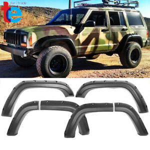Fit For Jeep Cherokee Xj 1984 2001 Fender Flares Pocket Style Wheel Cover Pp 8pc