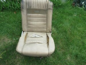 1965 1966 1967 Mustang Pony Deluxe Passenger Right Front With Tracks Oem Used