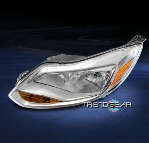 For 2012 2013 2014 Ford Focus Replacement Headlight Lamp Chrome Driver Left Side