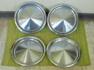 1957 Plymouth Hub Caps 14 Set Of 4 Mopar Wheel Covers 57 Hubcaps