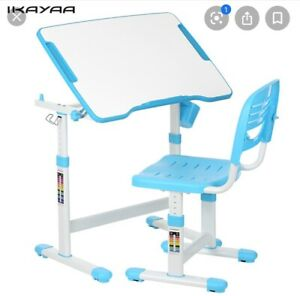 Ikayaa Ergo Healthy Study Desk Chair Chair Blue Combo New In Box Ikea Kids New
