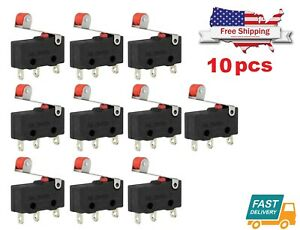 10pc Mini Micro Limit Switch Roller Lever Arm Open Close Microswitch Kw12 3 Type